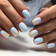 60 Must Try Nail Designs for Short Nails Short Acrylic Nails; Chic and fun Nails; Ombre Nail Designs, Short Nail Designs, Acrylic Nail Designs, Nail Design For Short Nails, Simple Nail Design, Light Blue Nail Designs, Fun Nail Designs, Striped Nail Designs, Shellac Nail Designs