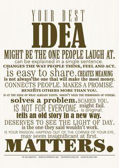 your best IDEA...