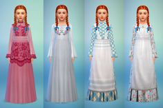 "budgie2budgie: "" Dress set ""Charlotte"", 8 recolours of a lovely mesh by Kiara/mystufforigin. (included) DL Dropbox / SimFileShare (Big thanks to SimGuruLaura for help with the bump map and Sandy for..."