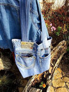Taška z recy džínsoviny - športová / Maryval - SAShE. Denim Shorts, Jeans, Sport, Handmade, Women, Fashion, Moda, Deporte, Hand Made
