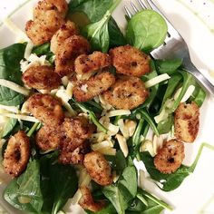 Late night Calamari Spinach Salad for the win! #whatsfordinner #salad #wednesday #bestdinner #calamari #friedfood #cheese #happygirl #food #foodporn #foodgasm #foodstagram #foodpics #foodblogger #foodblog #recipe #faithhopeloveandlucksurvivedespiteawhiskeredaccomplice #vais4bloggers #vafoodie #yum #cats #instayum #instagood #igdaily #bestoftheday #yummy #picoftheday #instalove