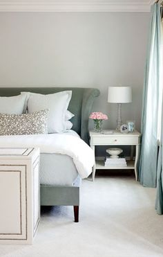 Bedroom of Edgehill residence, designed by Bear-Hill Interiors. Is this the hickory chair bed without the footboard? If so, like it much better.......