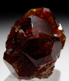 Grossular, Vesper Peak, Sulton, Snohomish Co., Washington thumbnail - 2.5 x 2 x 1.6 cm -  Cluster of glassy and transparent cinnamon brown Grossular crystals with excellent luster.