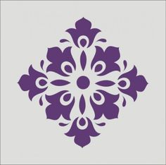 Scroll Stencil | Stencil flourish damask scroll wall design decoration 6 x 6 inches