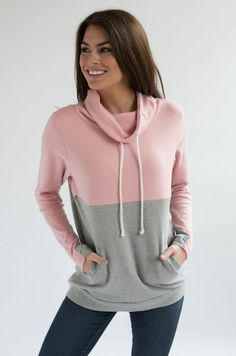 This nursing sweatshirt has a hidden zipper for easy breastfeeding access. The nursing pullover has a colorblock design with contrast thumbholes. Our nursing clothes have a relaxed fit and are made with cotton- blend fabrics. Nursing School Shirts, Nursing Clothes, Nursing Tops, Nursing Schools, Pink Grey, Gray, School Dresses, Cute Casual Outfits, Color Blocking
