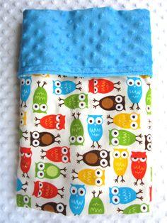 Harvest Cordoroy OWL Blanket  30 36 in HANDSOME by BucciAndBubba, $34.00