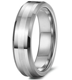 6mm Tungsten Rings Wedding Band Engagement Promise Matte Finish