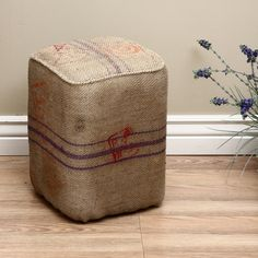 Burlap Bardana Stool (India) | Overstock.com Shopping - The Best Deals on Ottomans