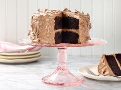 Ina Garten: chocolate cake, Love it! Reduce the baking soda and baking powder to 1/2 tsp. If using butter (instead of oil), follow this sequence: butter + sugar -> eggs -> flours -> milk - > coffee and essences.