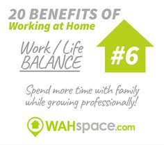 It's saturday! Today you can start balancing your life and your work by #workingathome  so what are you waiting for? #becomewahcertified #wahspacedotcom #wahspace #balance #work #workathome #workfromhome