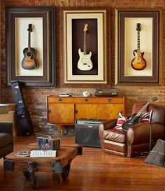 decorare casa con strumenti musicali