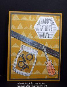 Stampin' Up! Thank You card made with High Tide stamp set and designed by Demo Pamela Sadler. See more cards at stampinkrose.com #stampinkpinkrose #etsycardstrulyheart