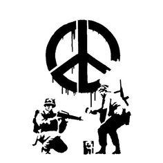 Banksy Cnd Soldiers Stencil Home Decor Art Replica Graffiti Ideal Stencils Ltd
