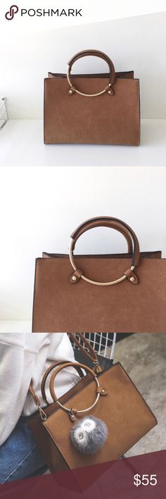 Back in Stock Brown PU leather shoulder bag Brand new. Beautiful brown pu leather. You can wear it with anything literally. It will look gorgeous with sweater and winter coats. Size approx 30cm x 20x14 Bags
