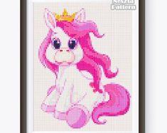 Unicorn Cross Stitch Pattern Rainbow Unicorn Sleeping