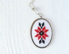 Cross stitch ketting Oekraïense folk borduurwerk door skrynka