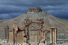 The Arch of Triumph,  one of the most recognisable sites in the Syrian city of Palmyra (pictured before it was destroyed), has been blown up by ISIS extremists as they continue their campaign against heritage sites