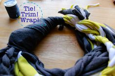 D.I.Y:  Recycled T-Shirt Scarf    1} Gather a few old t-shirts you don't wear anymore; thrift them or buy new -- but ...