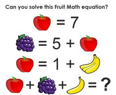 Math can be a little tricky if you don't pay attention to details, but this is a pretty simple equation, right? So can you solve it? (Hint: make sure you thoroughly count the number of banana…