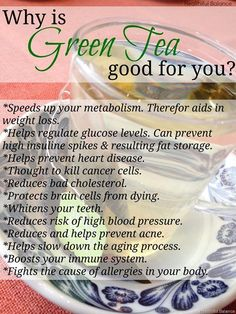 Green tea speeds up metabolism