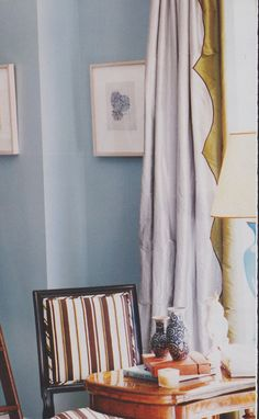 applique? edging for drapes.  From Ivanka Trump's apt (Pilkington), InStyle