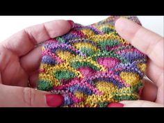 Passiert es Dir auch häufig, daß Du Farben an einem handgefärbten Strang Wolle total toll findest, dann aber traurig bist, weil er verstrickt ganz anders aus...
