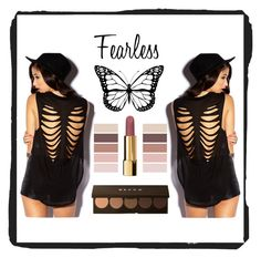 """""""Fearless"""" by gabriella-1072 ❤ liked on Polyvore featuring Forever 21, Becca and Chanel"""