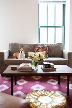 Style At Home: Cait Weingartner's Colorful Chicago Loft | theglitterguide.com