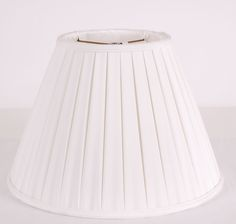White Pleat Shade: Avala and Summerour Lamps
