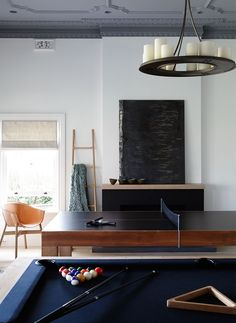 This is owned by a passionate ping pong player. He wants to share his passion with his friends so he expected the architectural firm to reflect it on the apartment design. Interior Design Games, Residential Interior Design, Interior Architecture, Australian Interior Design, Modern Interior, Furniture Design, Game Rooms, Tv Rooms, Bonus Rooms