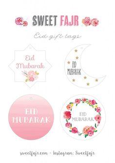 Eid Gift Tags - Sweet Fajr Décorations Eid, Eid Al Adha, Eid Mubarak Gift, Ramadan Mubarak, Eid Cupcakes, Eid Cake, Eid Envelopes, Eid Favours, Ramadan Cards