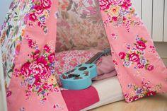 DIY Tipi tepee fleuri