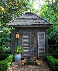 garden shed french country