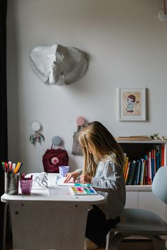 A peek inside the home of Birgit Sfat, owner of children's shop Over the Ocean. Built In Shelves, Storage Shelves, Childrens Shop, San Francisco Houses, Kids Decor, Home Decor, Princess Room, Kid Spaces, Kidsroom