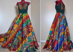 Je reve d'Afrique  Colorful African Maxi Dress by BarefootModiste, $189.00