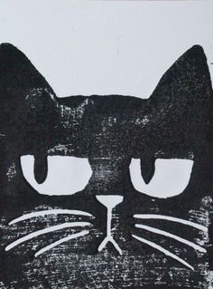 I Love Cats, Crazy Cats, Illustration Art, Illustrations, Black Cat Art, Cat Drawing, Oeuvre D'art, Street Art, Drawings