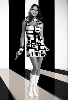Diana Rigg as Emma Peel in The Avengers, 1960s...