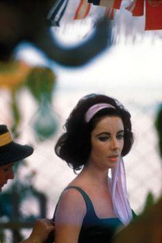 Elizabeth Taylor on the set of on the set of Suddenly, Last Summer, 1959
