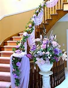 Flower floral decor decoration garland staircase idea wedding wedding staircase ideas home decorating bing images junglespirit Image collections