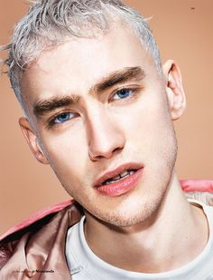 """English singer, songwriter, actor, and lead singer of Years & Years, Olly Alexander photographed by Matt Irwin, styled by Davey Sutton and art-directed by Nicola Formichetti, for the SS16 """"OUTSIDER"""" issue of Fucking Young! magazine."""
