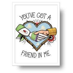 Toy Story You've got a friend in me print / la barbuda