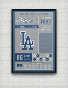 Los Angeles Dodgers Stats Print by DesignsByEJB on Etsy, $18.00