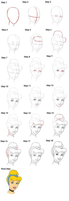 How to draw Cinderella