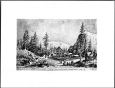 Page 1 :: Drawing by Edward Vischer of Strawberry Valley on the route from Placerville to Carson City, Spring 1861 :: California Historical Society Collection, 1860-1960. http://digitallibrary.usc.edu/cdm/ref/collection/p15799coll65/id/344