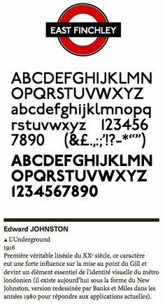 Edward Johnston - Underground - 1916 Via Xavier Senente