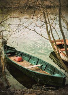 Boats, lake of Ioannina, Greece.  http://www.anesisrooms.gr/el/