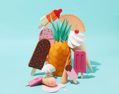 """Check out this @Behance project: """"Summertime pops"""" https://www.behance.net/gallery/38834305/Summertime-pops"""