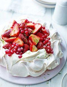 Dessert sans cuisson fraise
