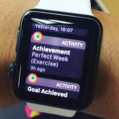 Loving my new #iwatch - the activity app is FANTASTIC. I have had #nikefuel and #fitbit which I both loved at the time! But #applewatch is in a class of its own  And this positive message this morning made my #mondayblues go away! #fitnessaddict #fitness #fitnessmotivation #fitnessjourney #healthylifestyle #healthy #fitlife #fitfam #applewhore #motivation by fittasticfran_bbg