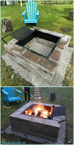 Startling Useful Ideas: Rectangular Fire Pit Gas fire pit chairs ana white.Square Fire Pit fire pit sign welcome to our. Easy Fire Pit, Small Fire Pit, Fire Pit Grill, Fire Pit Backyard, Backyard Bbq, Rectangular Fire Pit, Square Fire Pit, Fire Pit Chairs, Fire Pit Seating